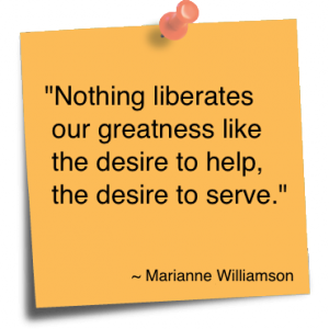 Desire to Serve. It's a gift for us, too!