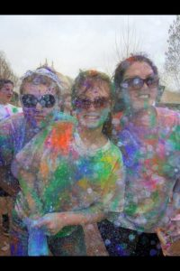 Family at a Color Festival